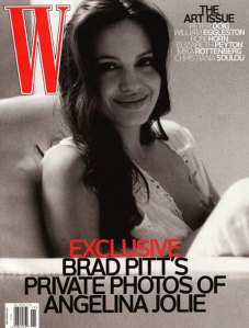 Angelina Jolie Breastfeeding  Pictures — W Magazine Preview - November 2008